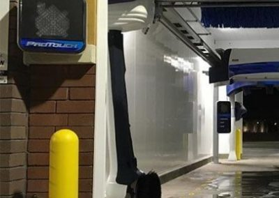 Car Wash Entrance Bollard Covers