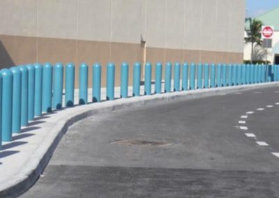 LIght Blue Bollard Covers