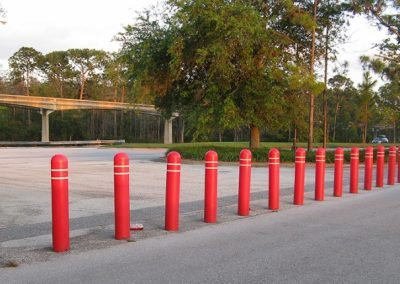 Disney Red Bollard Covers