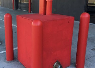 Red Bollard Covers