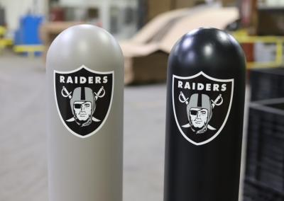 Football Themed Bollard Covers