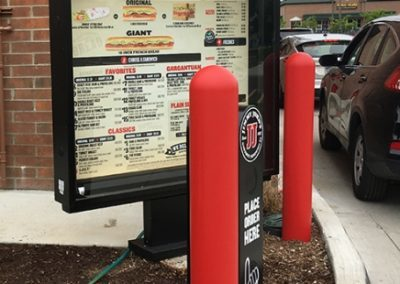 Jimmy Johns Red Bollard Covers