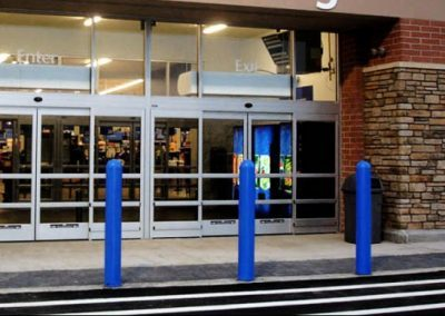 Store Front Blue Bollard Cover