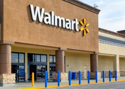 Walmart Blue Bollard Cover