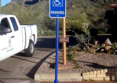 Handicap Blue Pyramid Sign Base