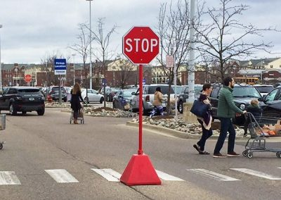 Red Mobile Stop Sign Base