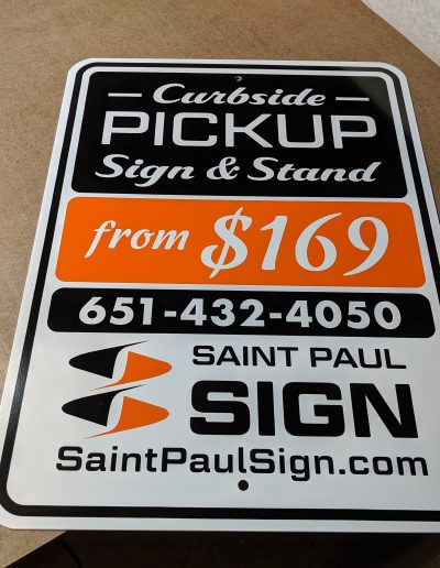 Custom Curbside Pickup Sign