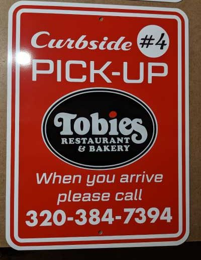 Restaurant Curbside Pickup Sign
