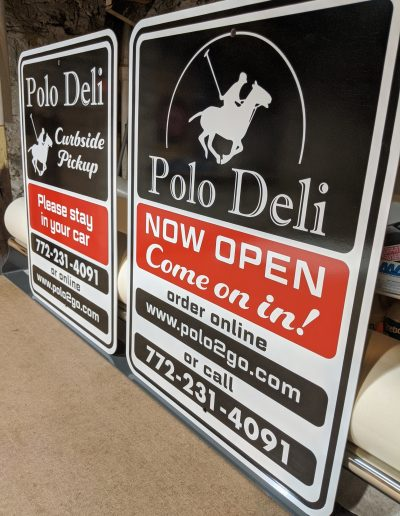 Polo Deli Vero Beach Florida Custom Signs