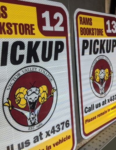 Reflective Curbside Pickup Signs