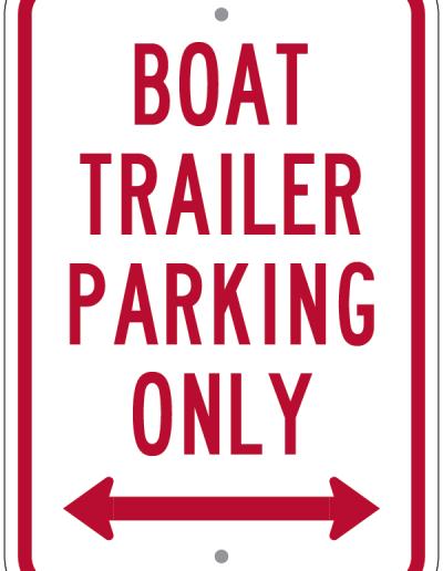 BOAT TRAILER PARKING ONLY SIGN