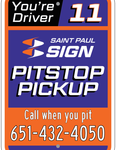 PITSTOP PICKUP DRIVER 11 SIGN