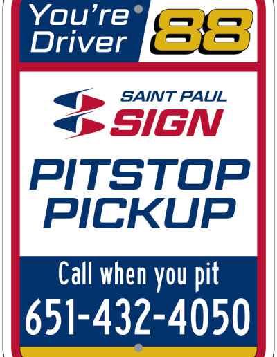 PITSTOP PICKUP DRIVER 88 SIGN