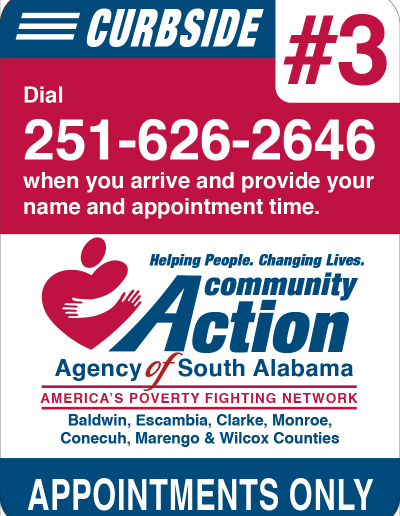 Community Action of South Alabama Curbside Sign