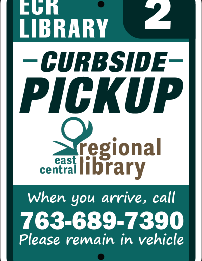 Library Curbside Pickup Sign