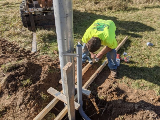 Concrete Foundation for Satellite Antenna Pipe or Mast