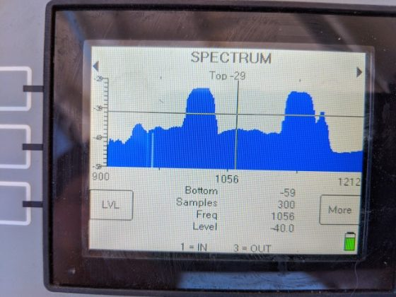 Galaxy 18 Satellite Spectrum on XR3