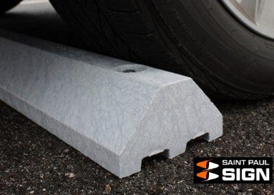 Light Gray Plastic Truck Parking Block
