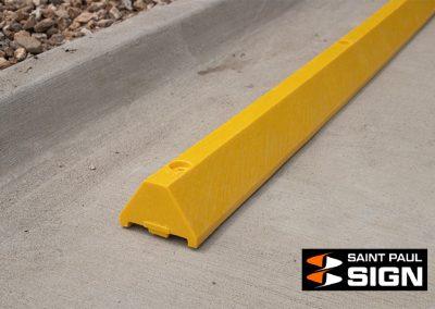 Standard Yellow Plastic Parking Block