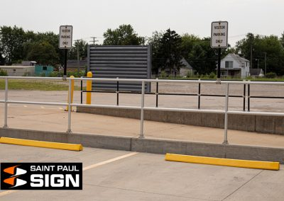 Yellow Plastic Parking Blocks Minnesota