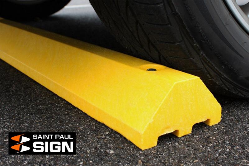 Yellow Truck Parking Block